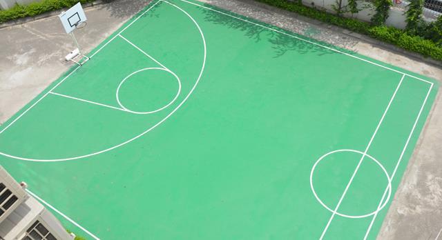 Hoàn thành sân bóng rổ rèn luyện thể dục thể thao cho cán bộ, công nhân viên công ty!
