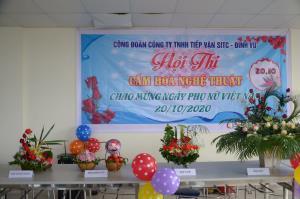 Cuộc thi cắm hoa chào mừng 90 năm ngày thành lập Hội Liên hiệp phụ nữ Việt Nam.